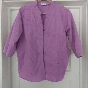 d & co - lilac eyelet top